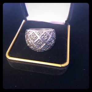 Vintage 925 Silver Marcasite Ring
